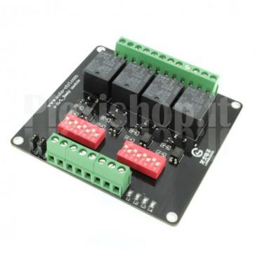 Modulo Relay a 4 canali optoisolati ad alta velocità, 10A 24V