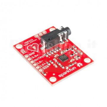Modulo sensore di battiti cardiaci per Arduino a 3 canali, AD8232