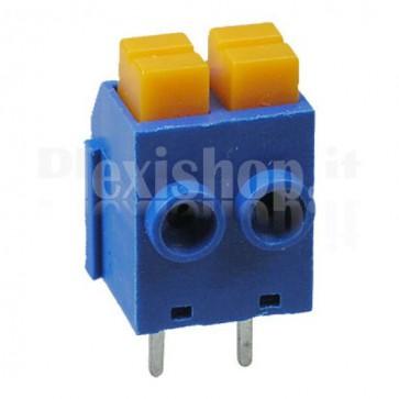 Morsettiera da circuito stampato con contatti a molla, 2P 5.0mm