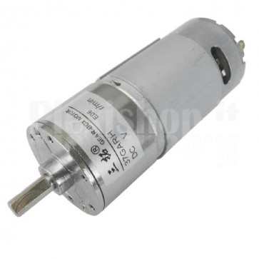 Motore con riduttore 37GARH-600, 24Vcc 600RPM