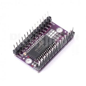 Multiplex driver per matrice a LED 16x8 con HT16K33