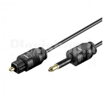 Cavo audio ottico digitale Toslink a Mini Plug 1mt