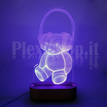 Lampada 3D Orsetto RGB