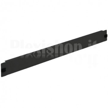 Pannello Cieco Toolless 2 Clip per Armadi Rack 19'' 1U Nero