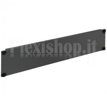 Pannello Cieco Toolless 4 Clip per Armadi Rack 19'' 2U Nero