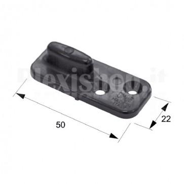 Pattino nero in nylon 50x22 mm