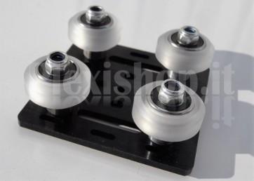 Piastra in alluminio mini V-Slot V-Shod