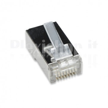 Confezione 10 Plug cat. 5E RJ45 per cavo STP