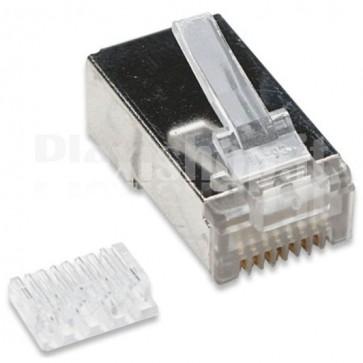 Confezione 10 Plug cat. 6 RJ45 per cavo STP cat. 6