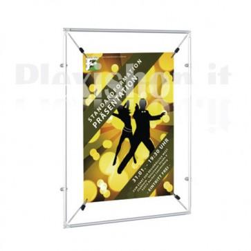 Porta poster con Set di fissaggi per parete e su cavi