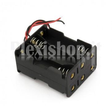 Portabatterie a 6 celle di tipo AA - 3x2