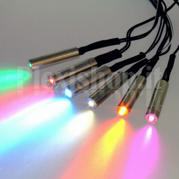 Proiettore 12V per fibra ottica Ø 2mm – 0.5W RGB