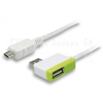 Prolunga USB 2.0 Micro B maschio/A femmina con HUB