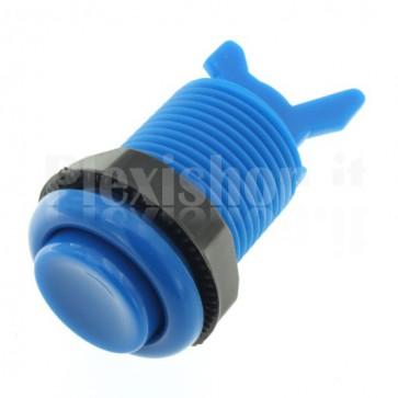 Pulsante arcade tondo di colore blu, 33mm 3A