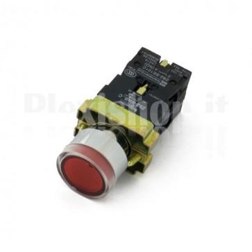 Pulsante luminoso Rosso 1xNC + 1xNO