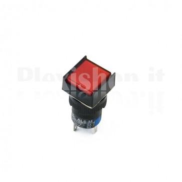 Pulsante luminoso Rosso quadrato AL6-M