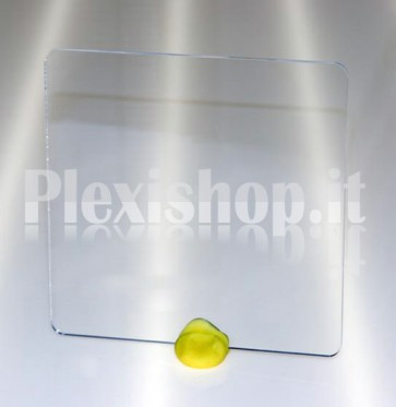 Quadrato plexiglass trasparente 100x100 mm