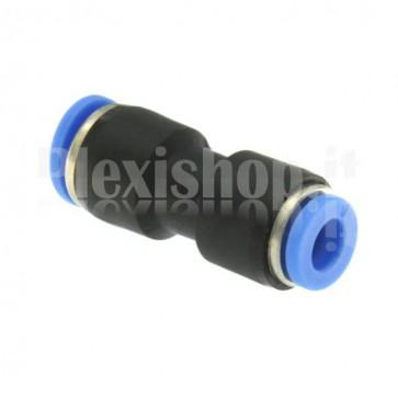 Raccordo ad innesto rapido tubo/tubo dritto diametro 8 a 6 mm