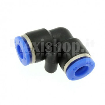Raccordo ad innesto rapido tubo/tubo a L diametro 6mm