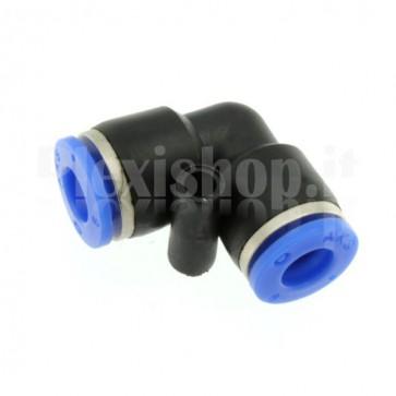 Raccordo ad innesto rapido tubo/tubo a L diametro 8mm