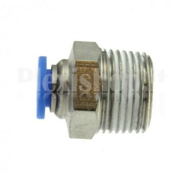 """Raccordo Innesto rapido pneumatico per tubo 4 mm filetto 3/8"""""""