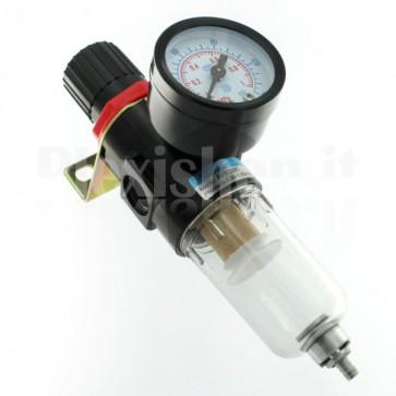 """Riduttore di pressione con filtro anticondensa e manometro, G1/4"""""""