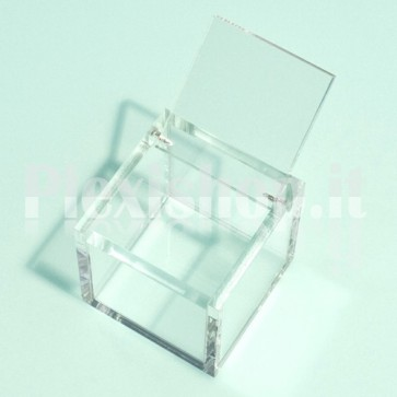 Scatola 7x7x3,5 cm in Plexiglass
