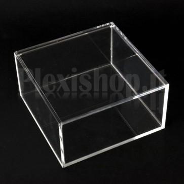Scatola in plexiglass 15x15x8 cm