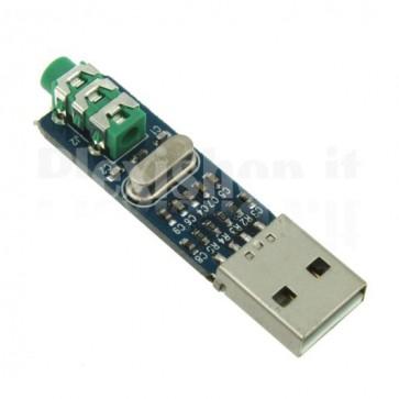 Scheda audio esterna a 2 canali USB 2.0, PCM2704