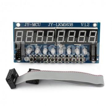 Scheda con 8 display e 8 pulsanti