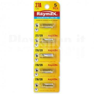 Set 5 Batterie 27A Super Alcalina