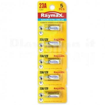 Set 5 Batterie Alcalina 23A 12V