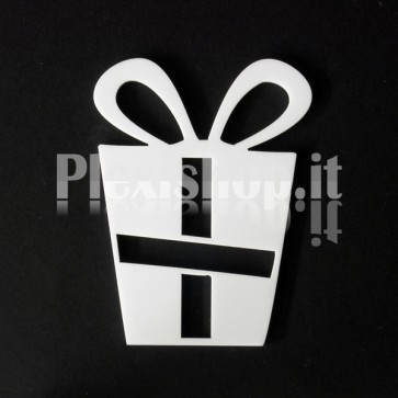 Set Decorazione di Natale in Plexiglass Bianco H100 - Gift