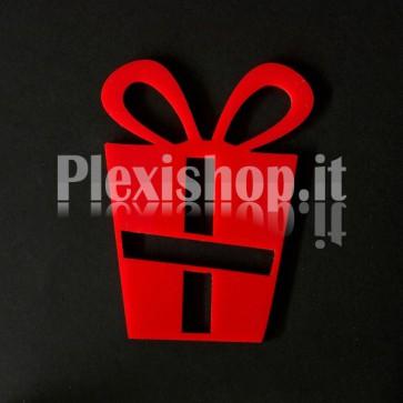 Set Decorazione di Natale in Plexiglass Rosso
