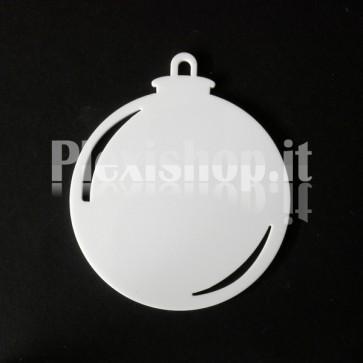 Set Palline di Natale in Plexiglass Bianco H100 - Ball
