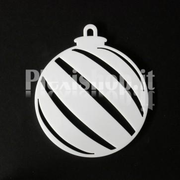 Set Palline di Natale in Plexiglass Bianco H100 - Diago