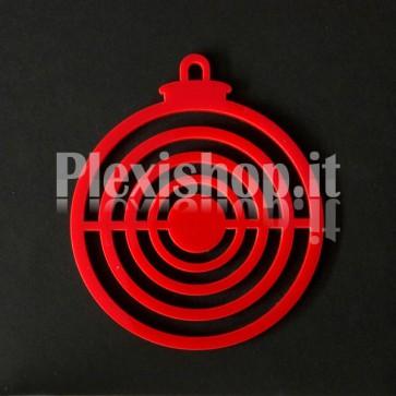 Set Palline di Natale in Plexiglass Rosso H100 - Center