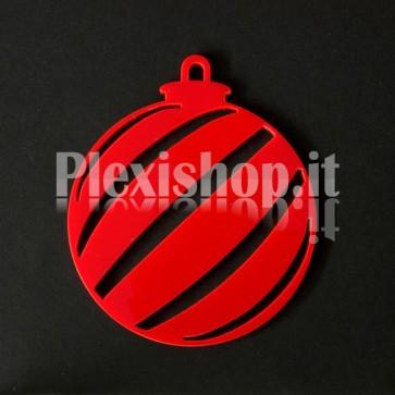 Set Palline di Natale in Plexiglass Rosso H100 - Diago