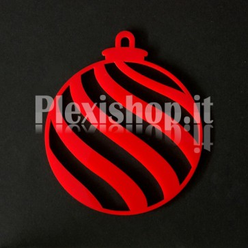 Set Palline di Natale in Plexiglass Rosso H100 - Onda