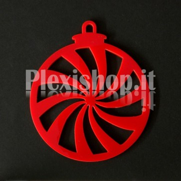 Set Palline di Natale in Plexiglass Rosso H100 - Spir