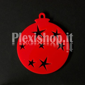 Set Palline di Natale in Plexiglass Rosso H100 - Star
