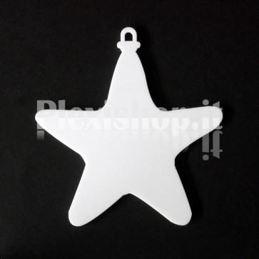 Set Stelline di Natale in Plexiglass Bianco H100 - Stella