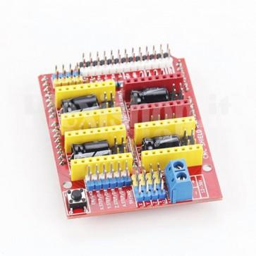 Shield per Arduino per stampanti 3D, macchine per intaglio e cnc