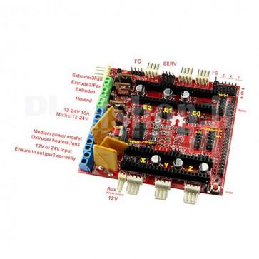 Shield RAMPS-FD della Pololu per Arduino DUE