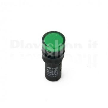 Spia luminosa da pannello Verde AD16-16C