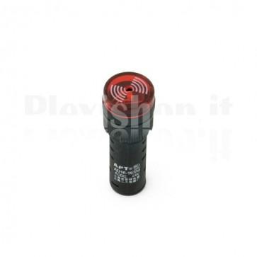 Spia luminosa industriale con buzzer AD16-16SM