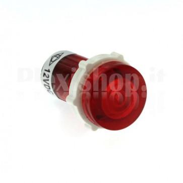 Spia luminosa XD15 led rossa 12 volt