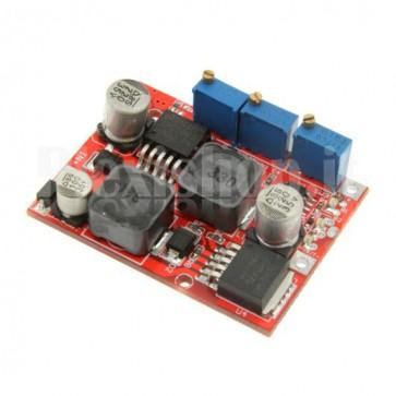 Stabilizzatore switching DC-DC regolabile sia in tensione che in corrente, 1.25-25Vcc 0-2A