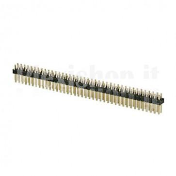 Strip di contatti 2 x 40 maschio passo 2.54mm