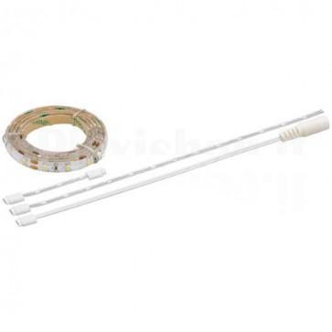 Striscia LED Flessibile IP44 30LED SMD Bianco Caldo, Classe A+